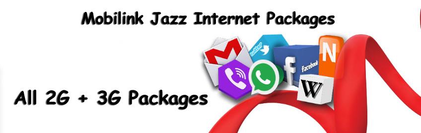 All Mobilink Internet Packages Both 2G & 3G Bundles