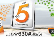 Ufone Daily Messages SMS Bundle