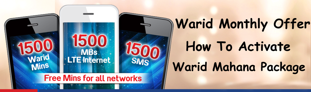 Warid Monthly Offer Mahana Package