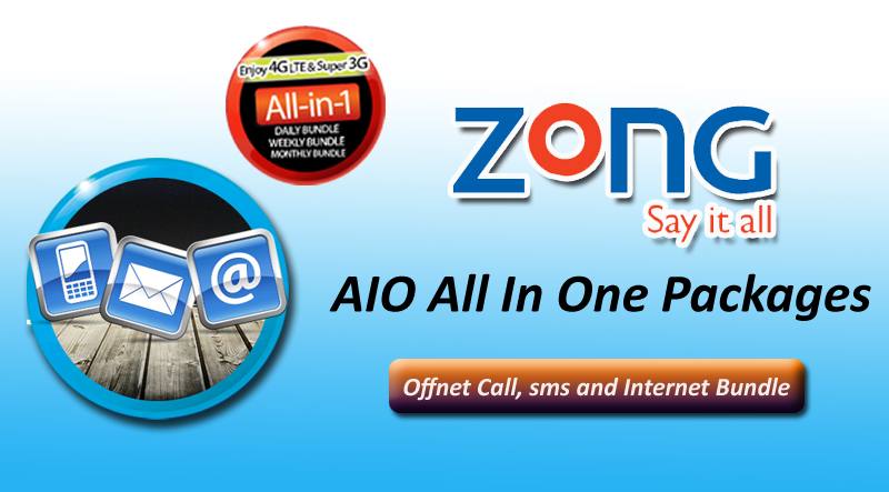 Zong Latest AIO All In One Packages