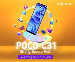 Xiaomi Poco C31 emage 1